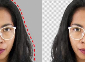Recortar una imagen en Photoshop : estudio de caso sobre el cabello