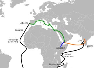 La découverte de Madagascar par un capitaine portugais