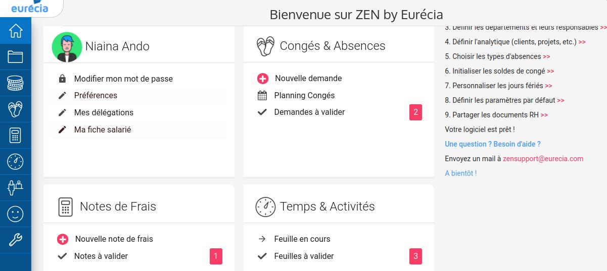 Les modules de Zen by Eurécia