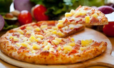 Un des produits phares des enseignes de fastfood d'Antananarivo: una pizza!