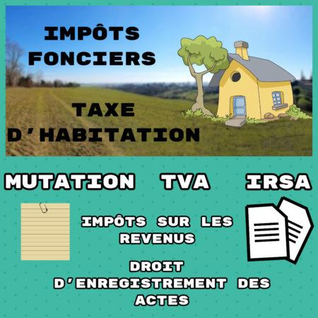 Un Tananarivien connaît au moins un type d'impôts sur les 7 mentionnés
