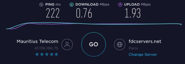 Internet entre Maurice et la France