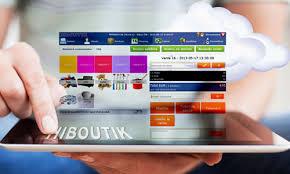 La interfaz de oficina del software de caja registradora Hiboutik