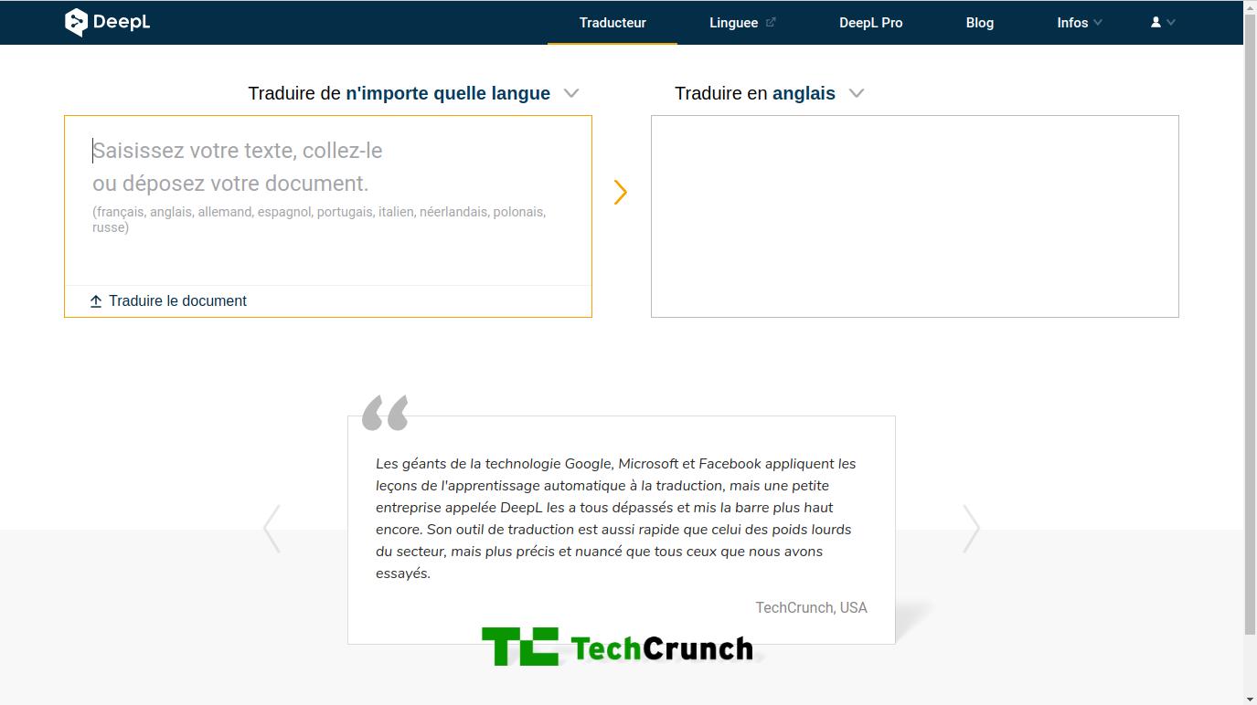 DeepL Traducteur un logiciel de traduction plus qu'à la hauteur de Google Translate