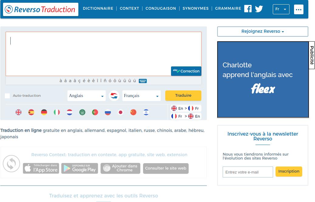 Les fonctionnalités avancées de Reverso permettent de corriger automatiquement les textes à traduire