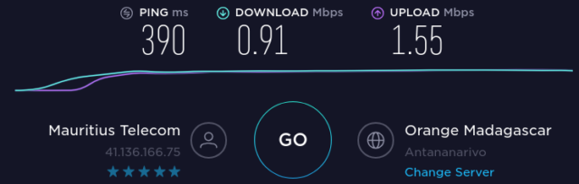 Internet à Maurice avec Madagascar