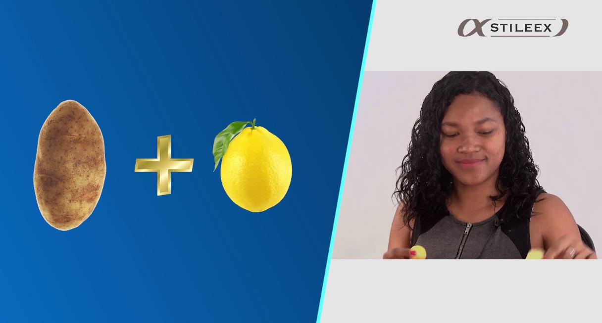 Les ingrédients pour le masque antitaches naturel: un citron et une pomme de terre