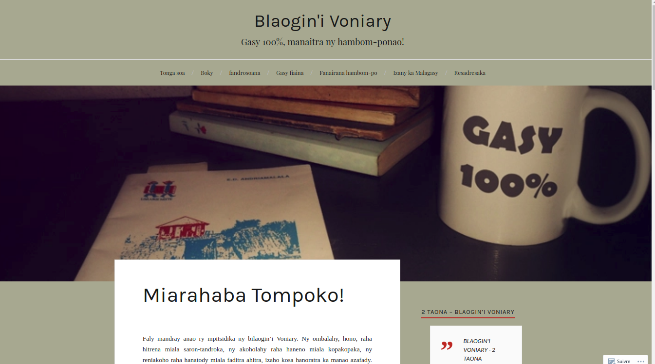 Un blog totalement à l'esprit malgache
