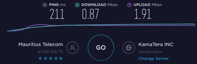 Internet entre Maurice et les Pays-bas