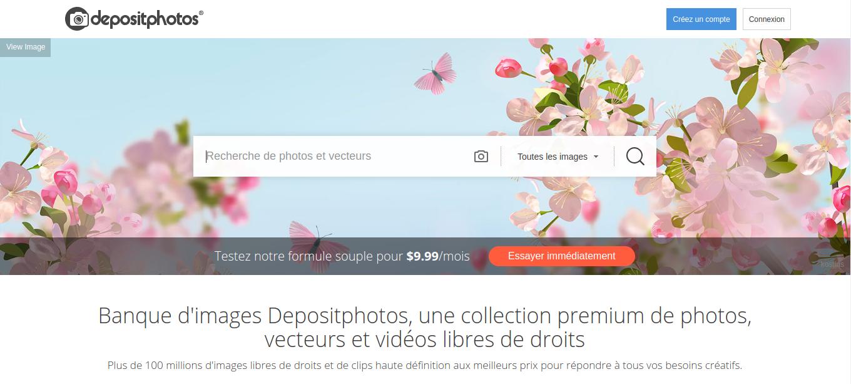 C'est facile de dénicher une photo pour montage sur Depositphotos, mais il se peut qu'elle soit payante