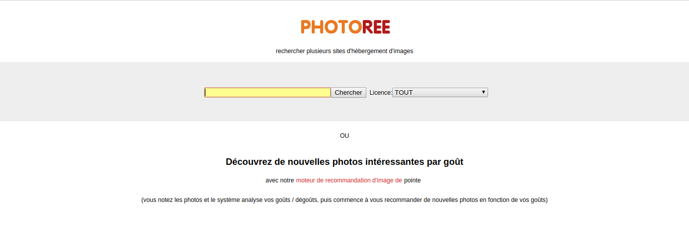 Photoree, un moteur de recherche pour repérer une photo parfaite pour un montage