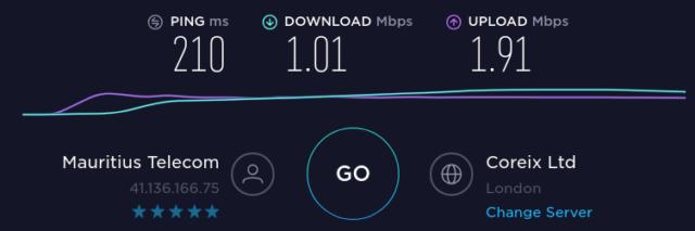 Internet entre Maurice et le Royaume-uni