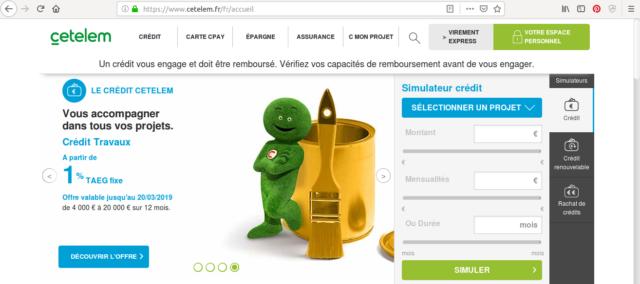 Faites votre demande de crédit en ligne sur Cetelem.fr !