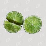 Citron coupe en deux