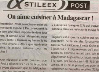 On aime cuisiner à Madagascar! - Titre de Jejoo du 25 avril 2019