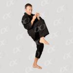 Position de défense, homme, kimono noir