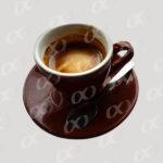 Tasse de cafe marron