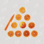 Tranches d_orange en triangle
