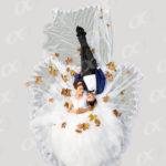 Un couple, mariage au sol