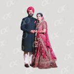 Un couple, mariage indien