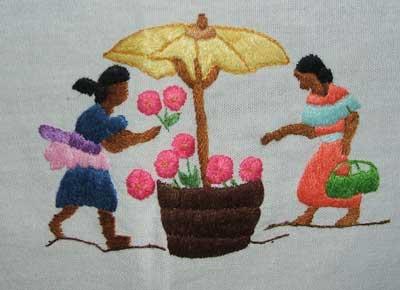 Un exemple de broderie à la malgache