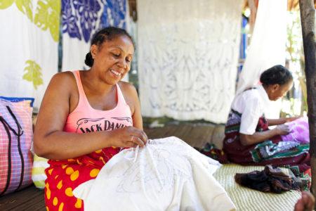 L'art de la broderie Malagasy est aujourd'hui une tradition