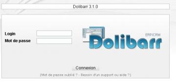 Voici ce que devrait afficher votre écran après le lancement de votre application Dolibarr