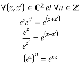 Formules exponentielle complexe