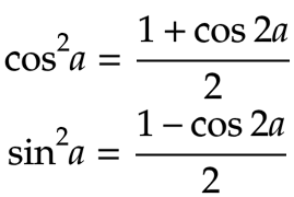 Formules de trigonométrie: linéarisation