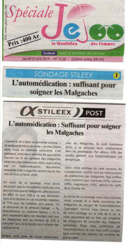 L'automédication: suffisant pour soigner les Malgaches - Titre de Jejoo du 02 mai 2019