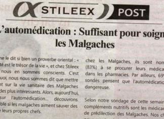 L'automédication: suffisant pour soigner les Malgaches - Titre du journal Jejoo du 02 mai 2019