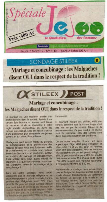 Les Malgaches disent OUI dans le respect de la tradition