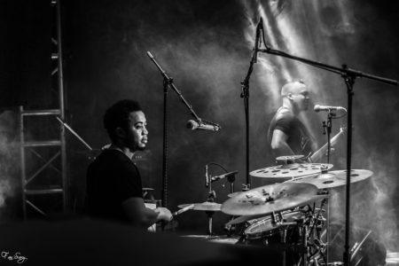 Zazah, le batteur de Fy & Band. Copyright Fan'Sary