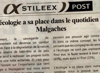 L'écologie a sa place dans le quotidien des Malgaches – Titre du journal Jejoo du 31 mai 2019