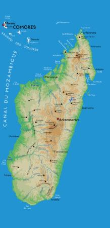 Le canal de Mozambique, entre Madagascar et l'Afrique