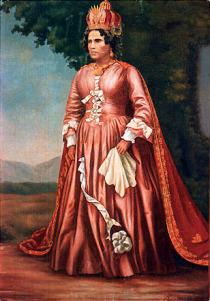 Un des tableaux malgaches représentant la Reine Ranavalona I