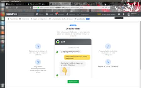 Vous serez guidés pas à pas lors de la création de votre LeadBooster
