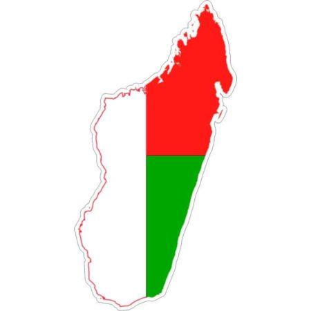Le drapeau malgache, maitso, fotsy, mena