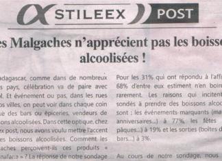 Les Malgaches n'apprécient pas les boissons alcoolisées! - Titre du journal Jejoo du 13 juin 2019