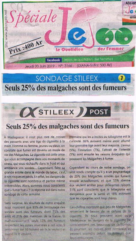 Seuls 25% des malgaches sont des fumeurs