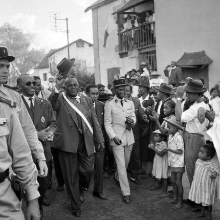 Le premier président de la république malgache Philibert Tsiranana