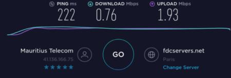 Internet entre Mauricio y Francia
