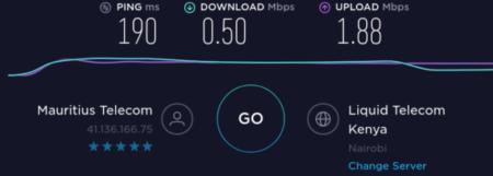 Internet en Mauricio con Kenia