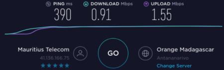 Internet en Mauricio con Madagascar