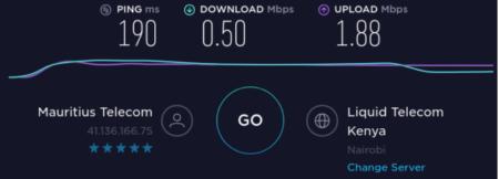 Internet between Mauritius and Kenya