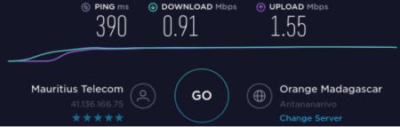 Internet in Mauritius with Madagascar