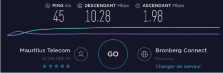 The quality of the Internet connection between Mauritius and South Africa is confirmed with Pretoria