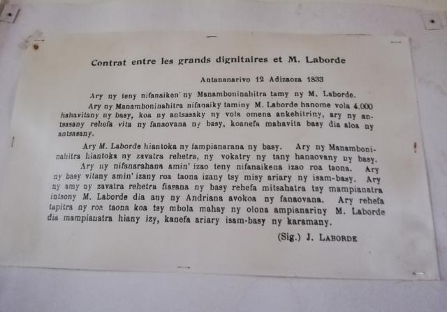 Le contrat qu'a signé Jean Laborde pour les 4000 fusils