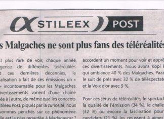 Les Malgaches ne sont plus fans des téléréalités! - Titre du journal Jejoo du 27 juin 2019