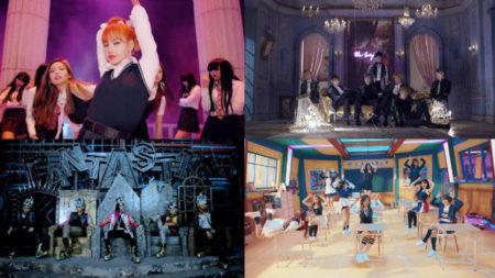 """Des MV impressionnants: Blackpink """" Comme si c'était votre dernier """"; Big Bang """" Fantastic Baby """"; BTS """" Blood, Sweat and Tears """", et Twice """" Signal """""""